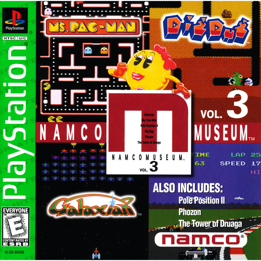 Namco Museum Volume 3 - PlayStation 1 Game - Complete