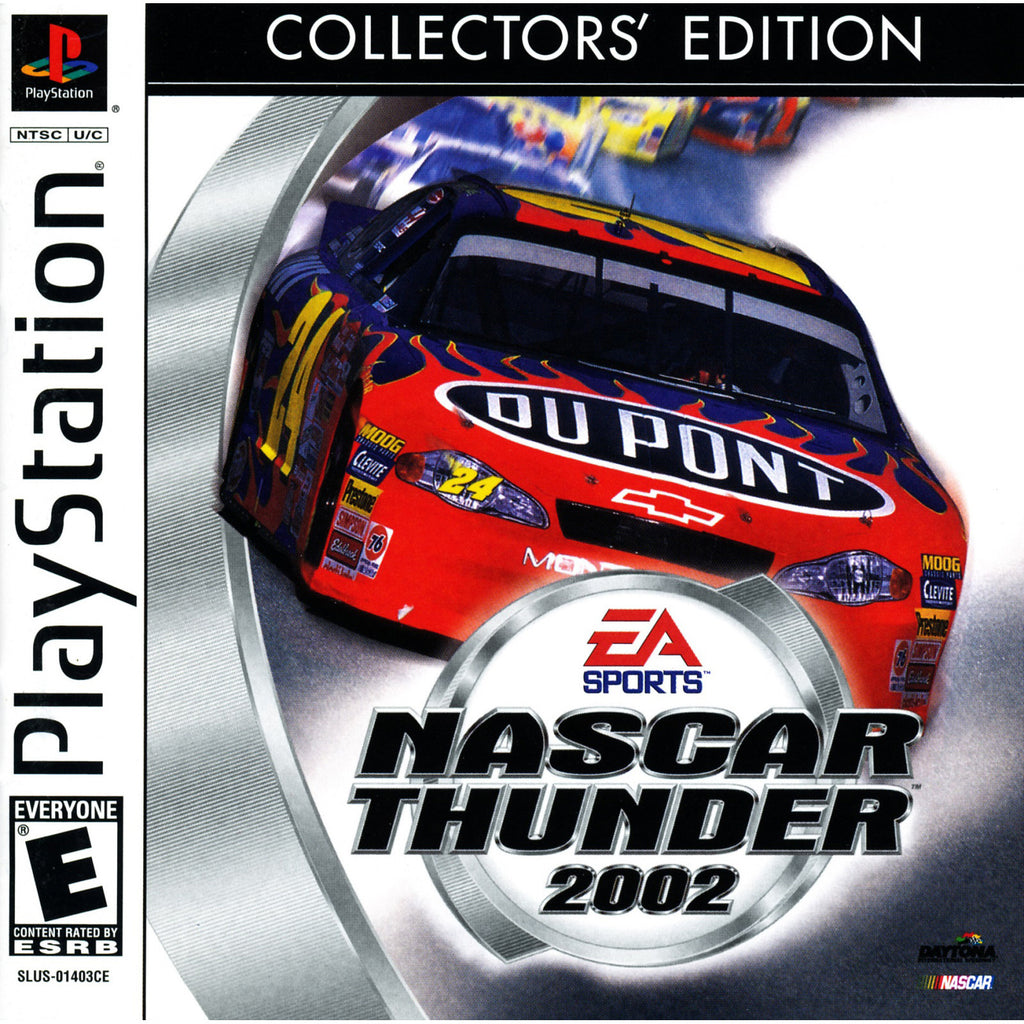 NASCAR Thunder 2002 - PlayStation 1 Game - Complete