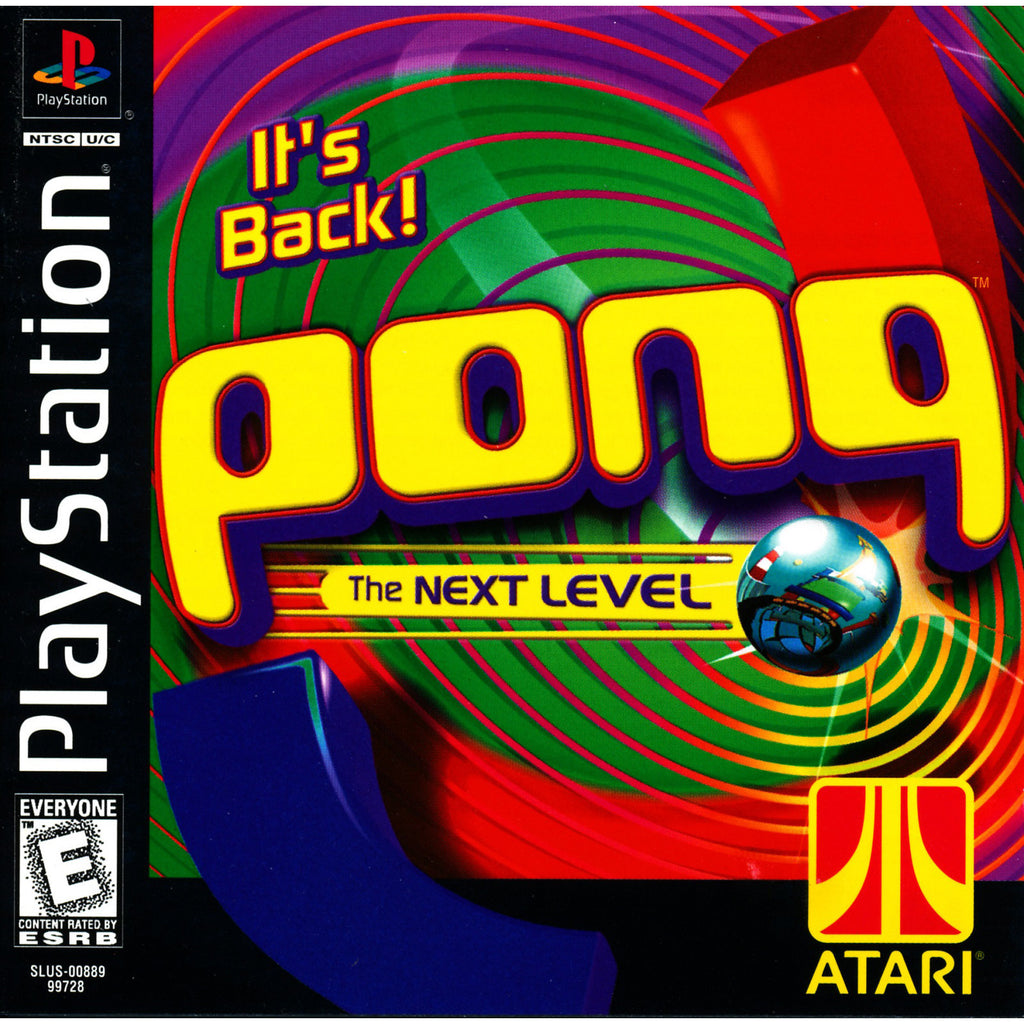 Pong: The Next Level - PlayStation 1 Game - Complete