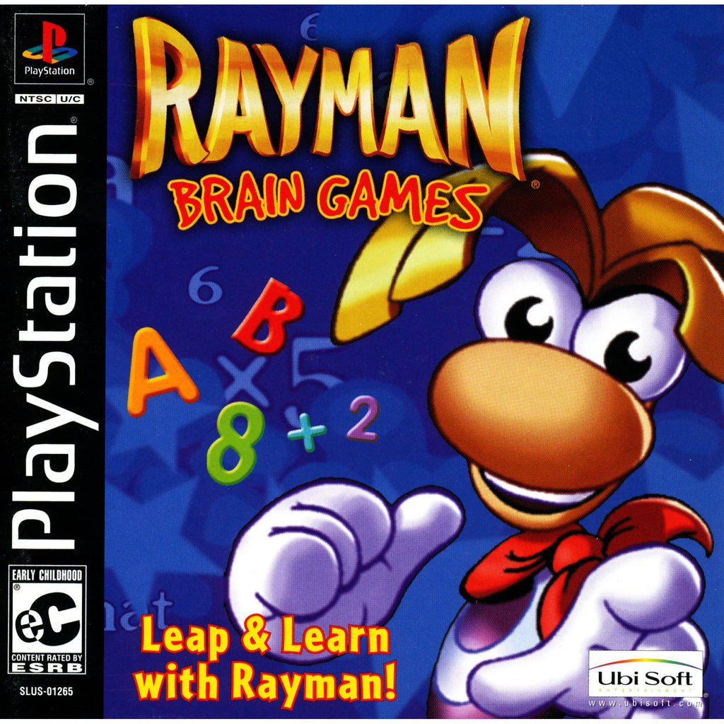 Rayman Brain Games - PlayStation 1 Game - Complete