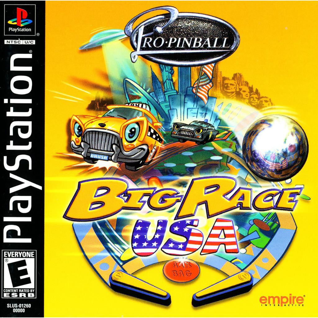Pro-Pinball: Big Race USA- PlayStation 1 Game - Complete