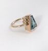 Aquamarine and Diamond Gold Ring