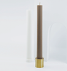 Black Blaze Column Brass Candle Holder