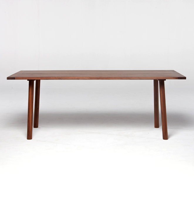 Coco Dining Table 200 in Walnut