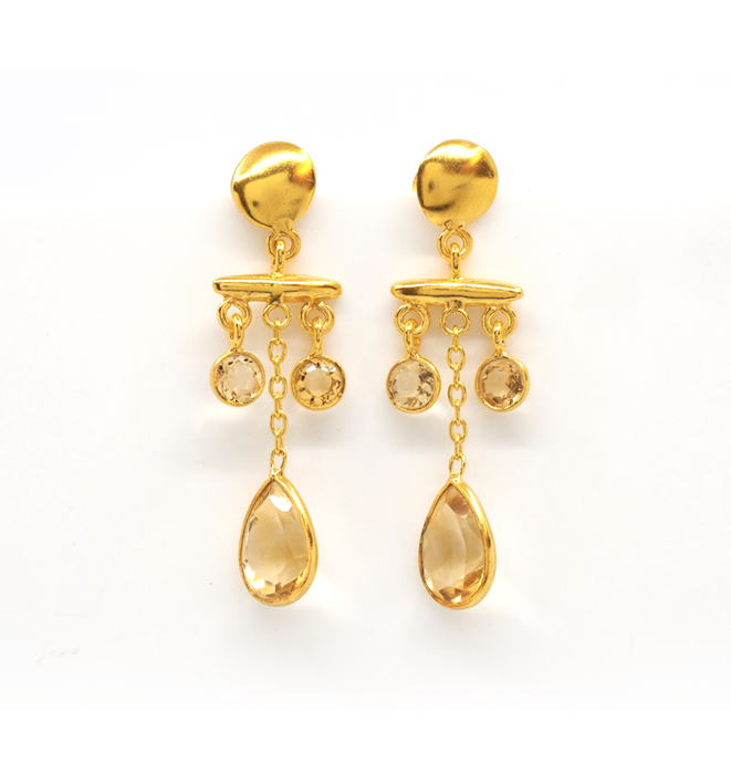 Citrine Branch Earrings
