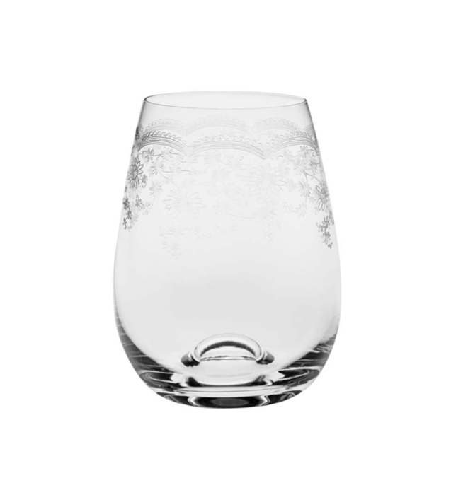 Floral Stemless Glass