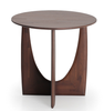 Teak Geometric Side Table - Teak