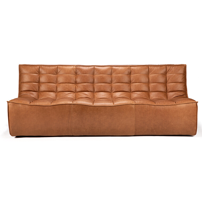 Ethnicraft N701 3 Seater Sofa - Leather