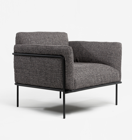 Scribe Lounge Chair - Cinder