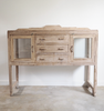 Vintage Teak Glass Display Sideboard