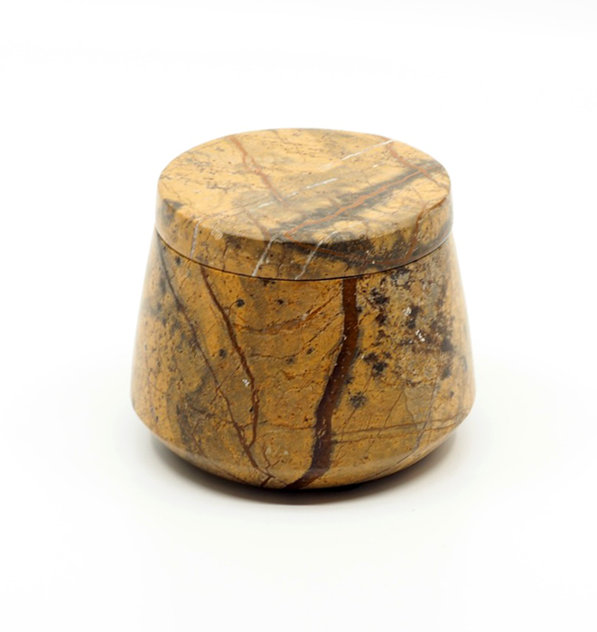 Marble Cannister - Brown Forest