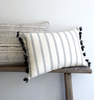 Cotton Diamond Stripe Woven Cushion