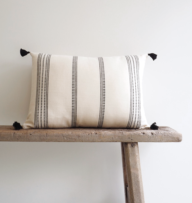 Cotton Stripe Woven Cushion