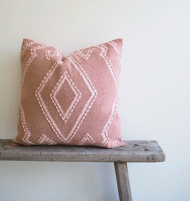 Blush Aztec Cushion