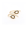 Black Diamond Open Pear Earrings