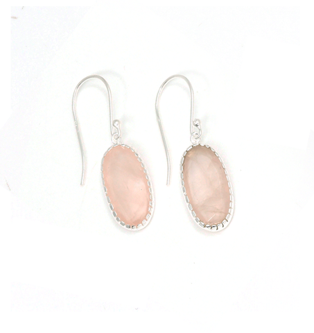Hera Earrings - Rose Quartz