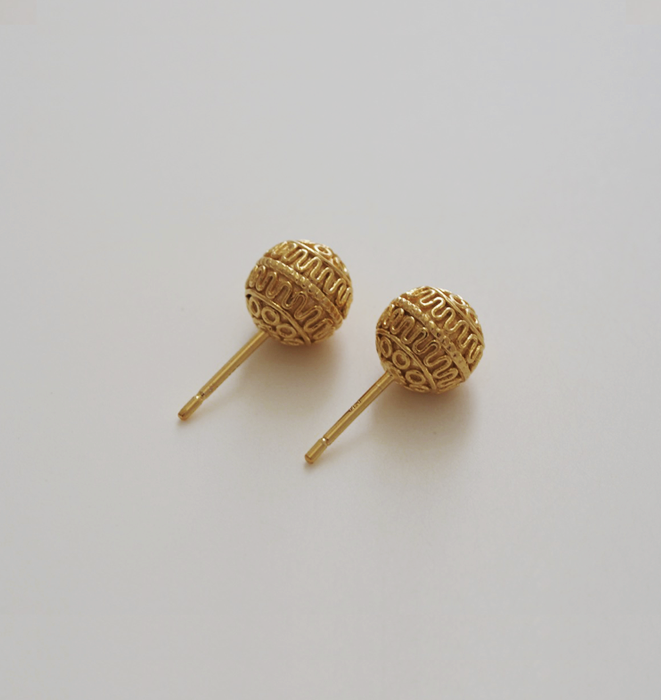 Halo Ball Stud Earrings