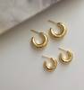 Planished Cuff Hoops - Small