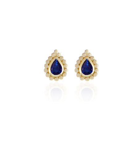 Sapphire Pear Stud Earrings