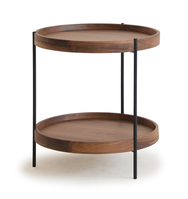 Humla End Table in Walnut