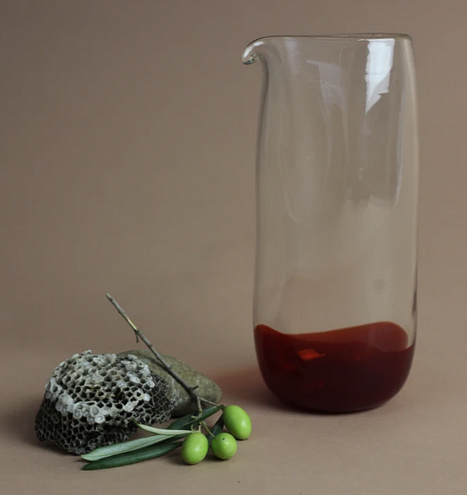 Ruby Glass Pitcher by Lope