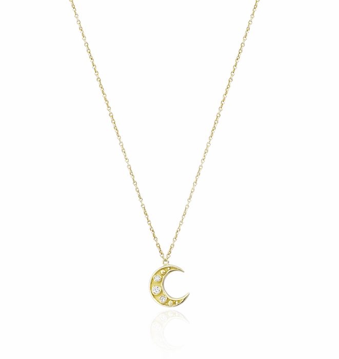 Crescent Moon Necklace by Kartique