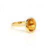 Citrine Oval 18k Gold Ring