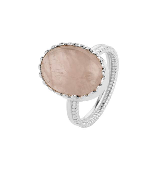 Elena Ring - Rose Quartz