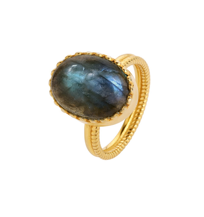 Elena Gold Ring - Labdorite