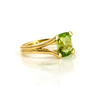 Peridot Solid Gold Ring