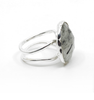 Black Rutile Double Band Ring