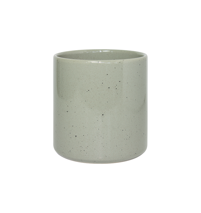 Cup with Green Speckle