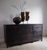 Vintage Multi Drawer Black Sideboard