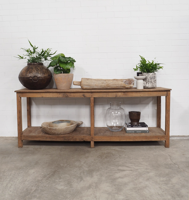 Rustic Two Level Console