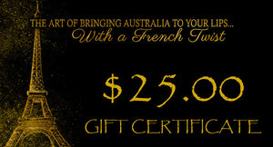 GIFT VOUCHERS - $25.00 - Stephs Gourmet Foods  French Gourmet Cheese Sauscission Stephs Gourmet Foods salumi Stephs Gourmet Foods Stephs Gourmet Foods