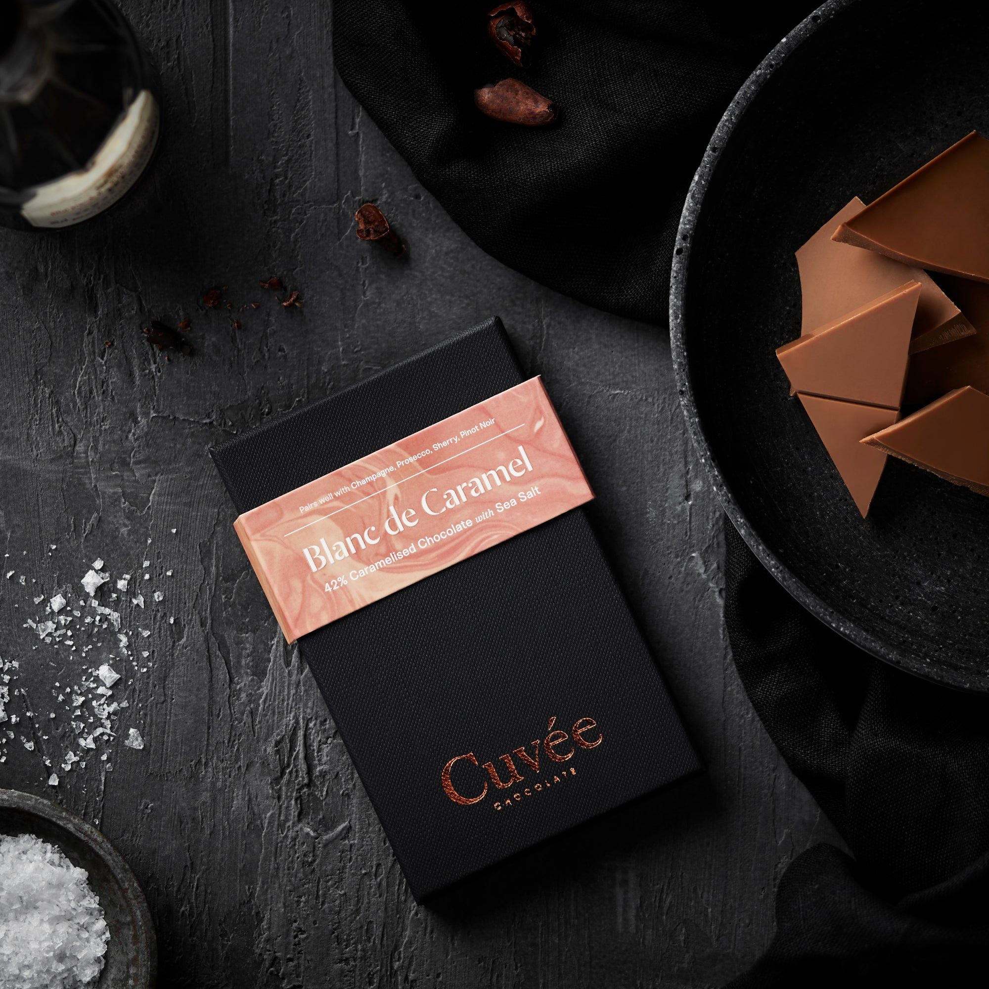 Cuvée Blanc de Caramel | 42% Caramelised Chocolate (with Sea Salt) - 70g
