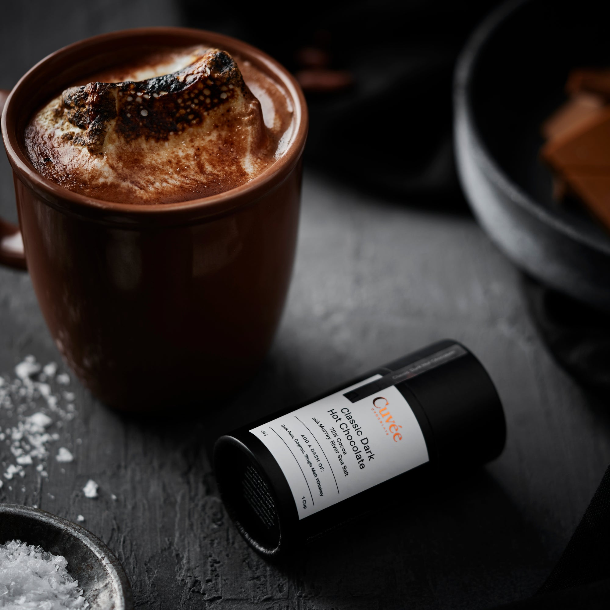 Cuvée 72% Classic Dark Hot Chocolate (with Sea Salt) - 150g (approx. 5 cups)
