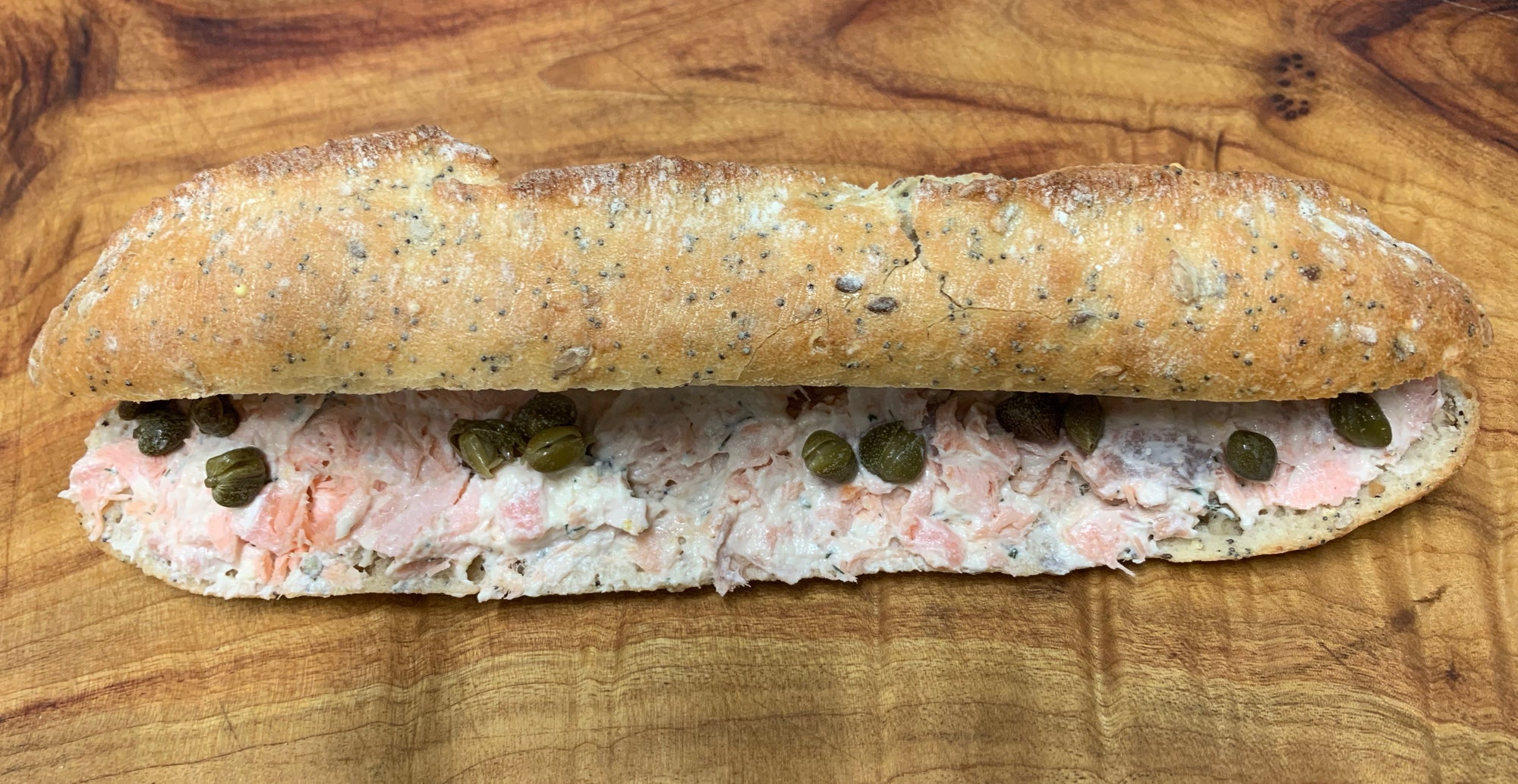 SANDWICH BAGUETTE SEASIDE - Stephs Gourmet Foods Sandwiches baguettes French Gourmet Cheese Sauscission Stephs Gourmet Foods salumi Stephs Gourmet Foods Stephs Gourmet Foods