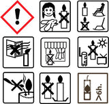 Candle safety icons