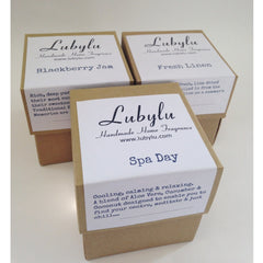 scented soy wax candle in a eco recycled box