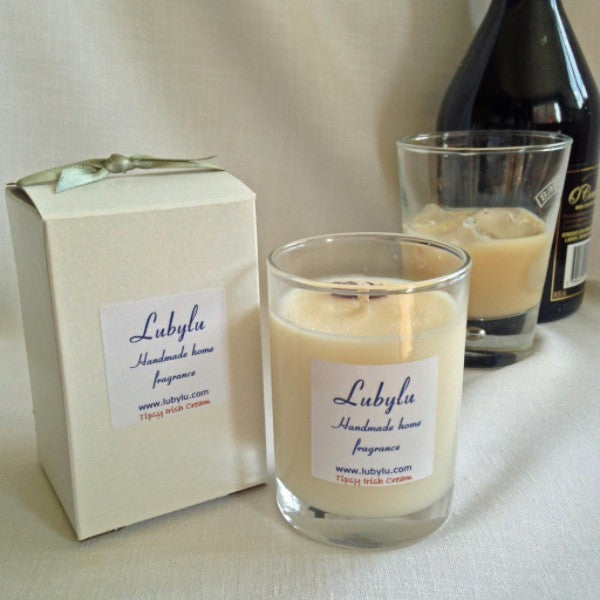 Tipsy Irish Cream scented soy wax candle