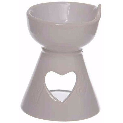 ceramic white heart oil burner