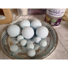 Bath treats made at bath bomb making workshop