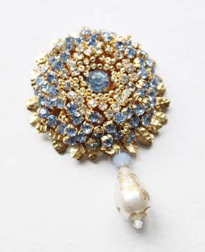 Elizabeth's Blue Flower Heirloom Brooch