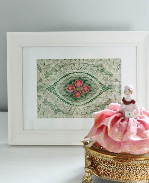 I Only Have Eyes for Beauty Antique Lace in Elegant White Frame