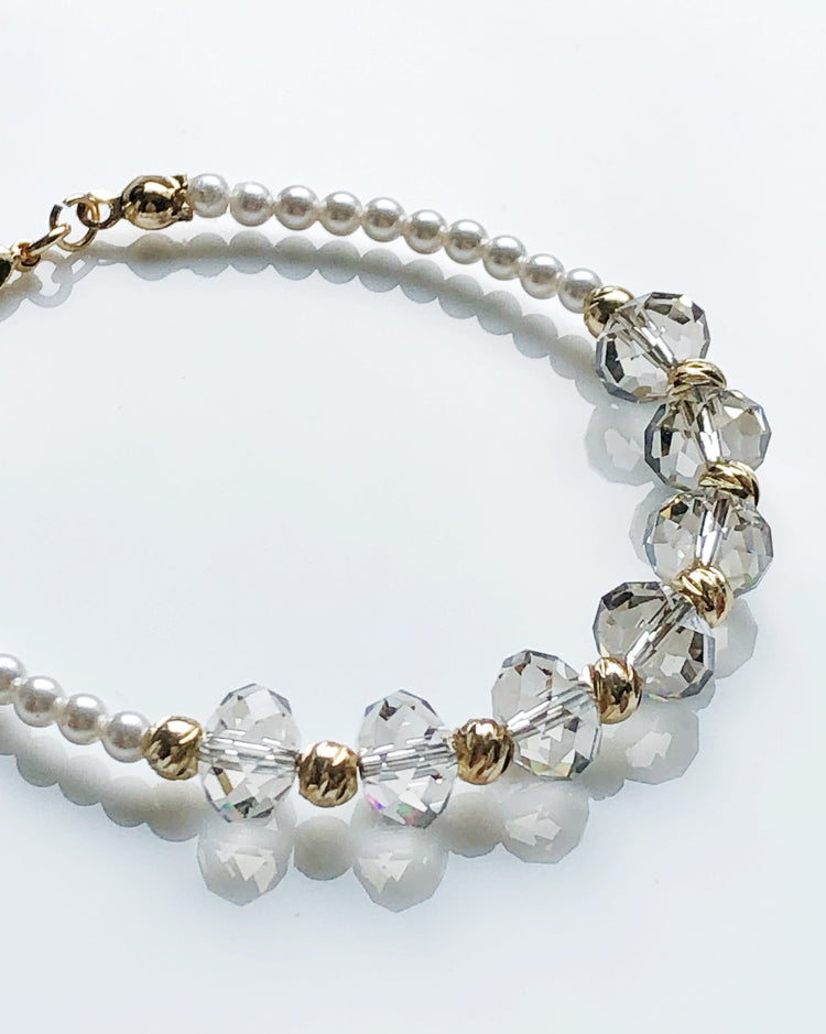 Swarovski crystal pearls and crystals bracelet
