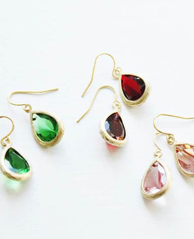 Faux Gemstone Earrings