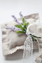 Dainty Beaded Lavender Ring Pillow