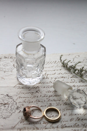 Antique smoky crystal perfume apothecary jar