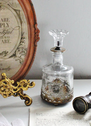 Victorian inspired boudoir glass bottle
